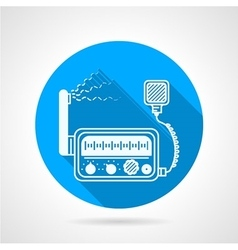 Vhf radio station round icon vector
