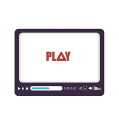Video play media vector