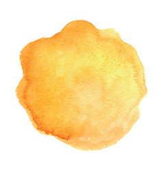 watercolor design light yellow circle vector image