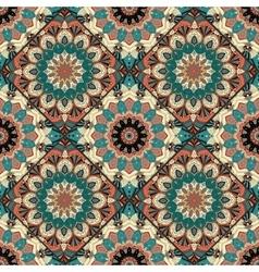 Flower pattern boho brown blue intricate vector