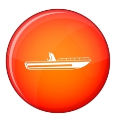 Motor speed boat icon flat style vector