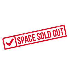 Space sold out rubber stamp vector