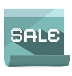 Sale title on paper sheet vector