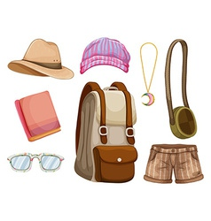 Hipster items vector image