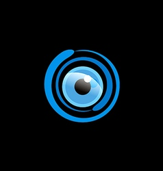 Eye ball cam monitor logo vector