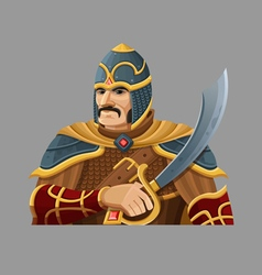 Cartoon warrior 2 vector