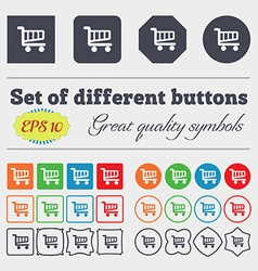 Shopping cart sign icon online buying button big vector