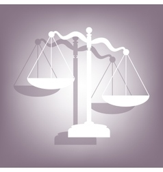 Scales of justice icon with shadow vector