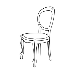 Vintage chair sketch chair vector