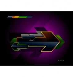 high tech arrow vector image