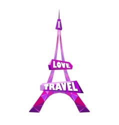 Pink eiffel tower vector