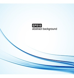 Abstract background Blue waves on white background vector image