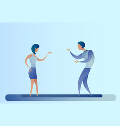 abstract business man and woman talking vector image