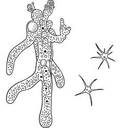 Amoeba vector image