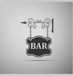 bar signboard icon isolated vector image