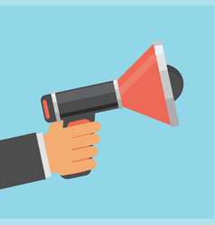 Business man holding megaphone for website and vector