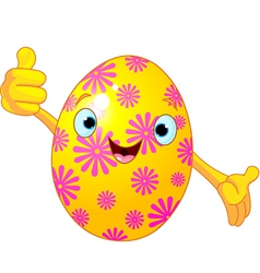 Easter Egg Character giving thumbs up vector image