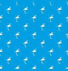 flamingo pattern seamless blue vector image vector image