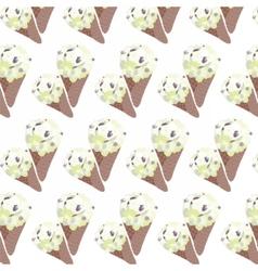 Ice cream vanilla waffle cones vector