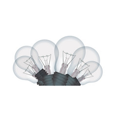 light bulbs incandescent vector image vector image