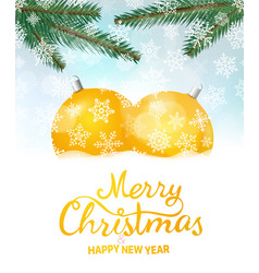 Merry christmas and happy new year greeeting card vector