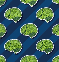 seamless brain pattern vector image