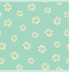 Seamless vintage floral background vector