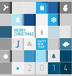 simple modern minimalistic christmas card vector image