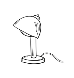 sketch of the lamp vector image vector image