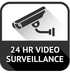 Video surveillance on black square vector