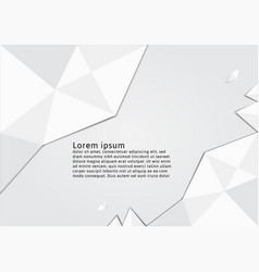 White polygon abstract background graphic design vector