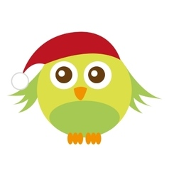 Cute bird christmas isolated icon vector