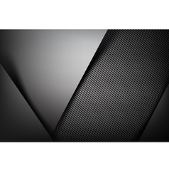 Abstract background dark with carbon fiber texture vector