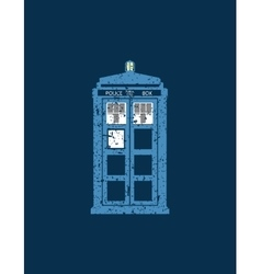 British police box public call vintage style vector