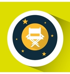concept cinema theater chair director graphic vector image