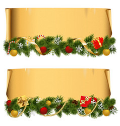 Christmas scroll set 1 vector