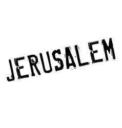 Jerusalem stamp rubber grunge vector image