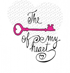 key of my heart vector image