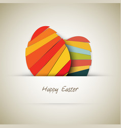 paper easter egg card vector image