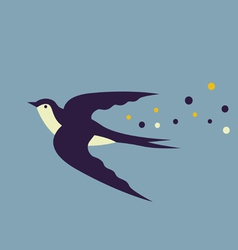 Design with swallow vector