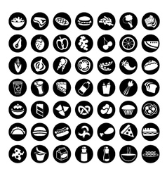49 different food icons set 1 vector image vector image