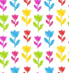 Seamless Flower Texture Natural Pattern for vector image