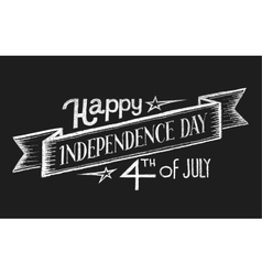 Independence day chalk lettering vector
