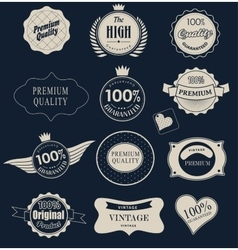 Set of retro labels vector