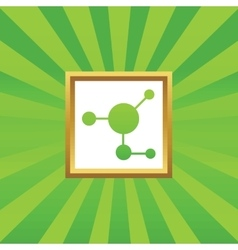 Molecule picture icon vector