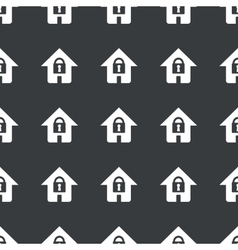 Straight black locked house pattern vector