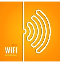 Wifi icon on orange background vector