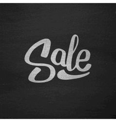 Black friday sale typography on chalkboard vector