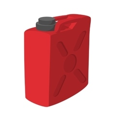 Fuel container jerrycan cartoon icon vector