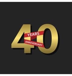 40 Years anniversary vector image